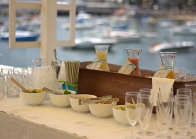 Manly Yacht Club Balcony food station