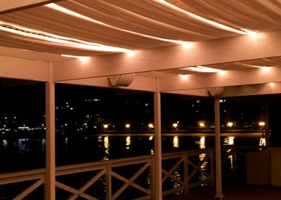 Balcony-Lighting & drapes