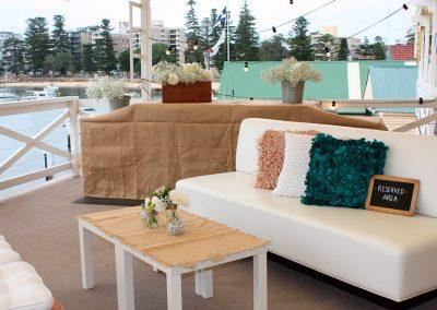 Balcony-BBQ & sofa