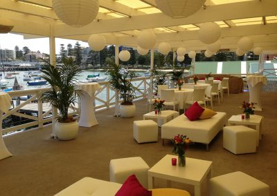 Balcony-Ottoman & palms