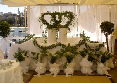 Balcony-Wedding ceremony with drapes