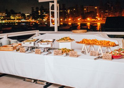Catering-Balcony at night