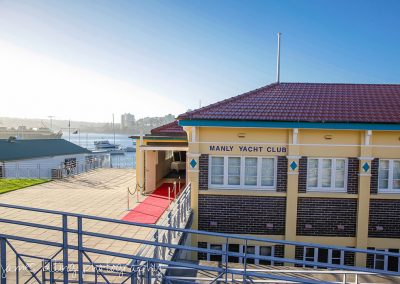 Manly Yacht Club building entrance