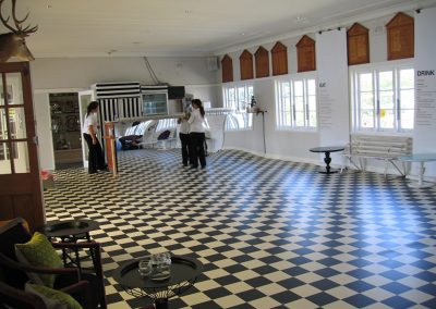Hall-Decorated with checked floor
