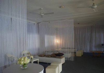 Hall-With drape partitioning