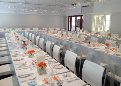 Hall-Wedding with long tables