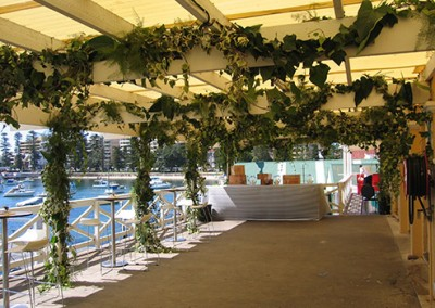 Manly-Yacht-Club-balcony-decorated-with-greenery