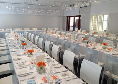 Manly-Yacht-Club-wedding-hall-long-tables